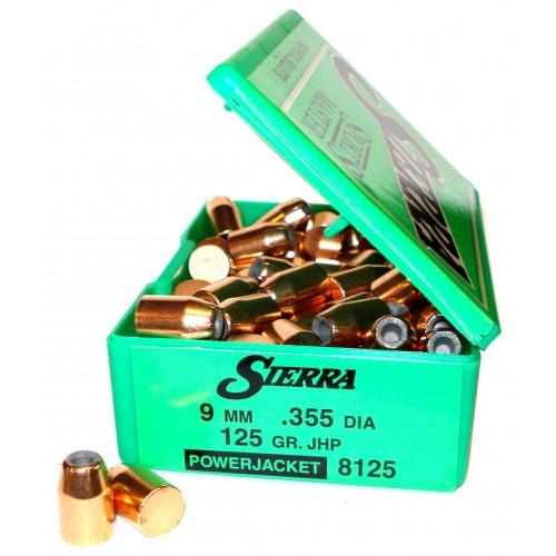 8125   9mm  .355  125gr  JHP Power Jacket