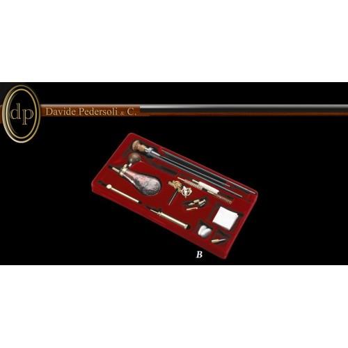 Pedersoli USA 336 B Equipo para carga y limpieza calibres .36, 38, .40, .44, .45 ,.54 y .69  de pedernal