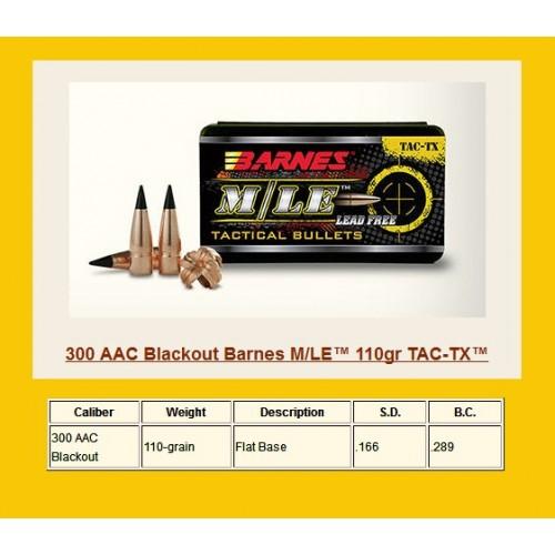 30321  .308  300ACC Blackout 110gr TAC-TX FB