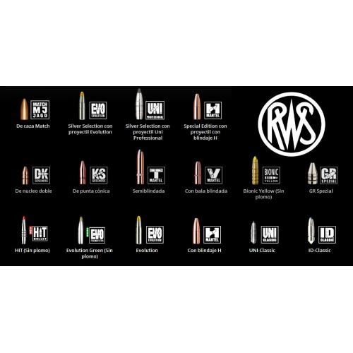Listado completo de proyectiles RWS disponibles