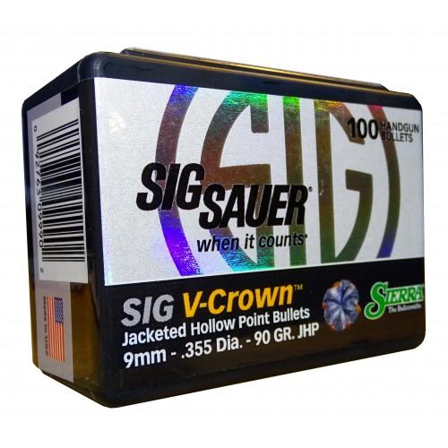 9990 Sierra 9mm  .355  90gr  HP Sig V-Crown