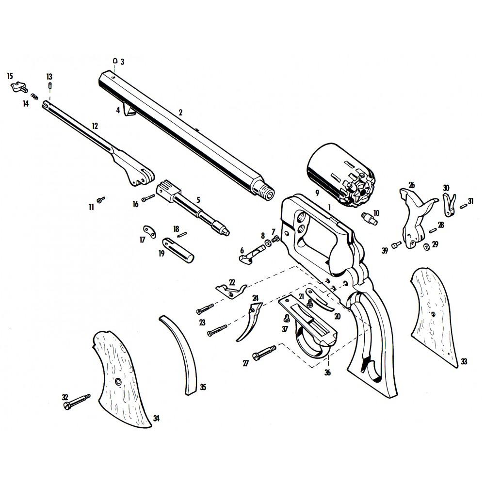 Pietta 1862 Spiller & Burr piezas de repuesto - Armería Trelles S.L.