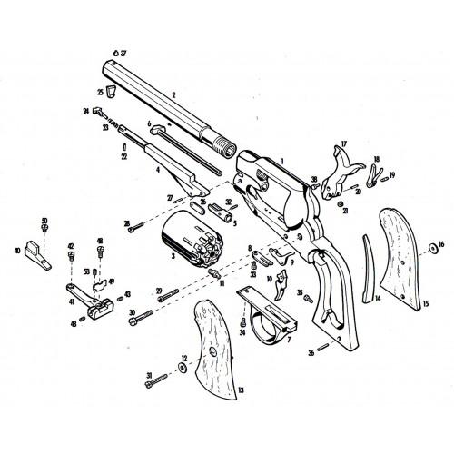 Pietta Guardamontes de latón 1858 Remington