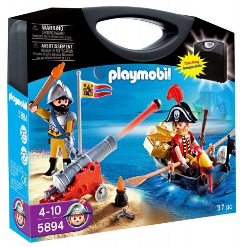 5894 Maletín Piratas con barca y cañón
