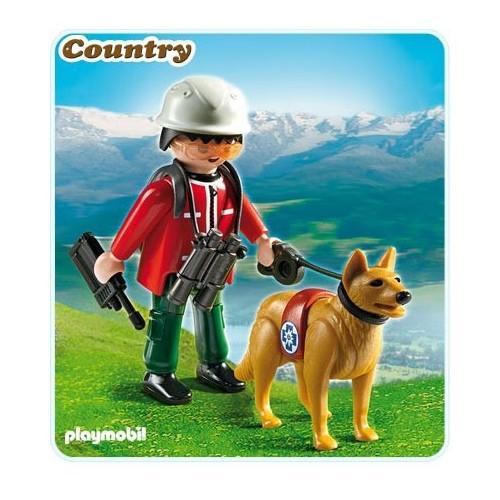 5431 Rescatador de montaña con perro