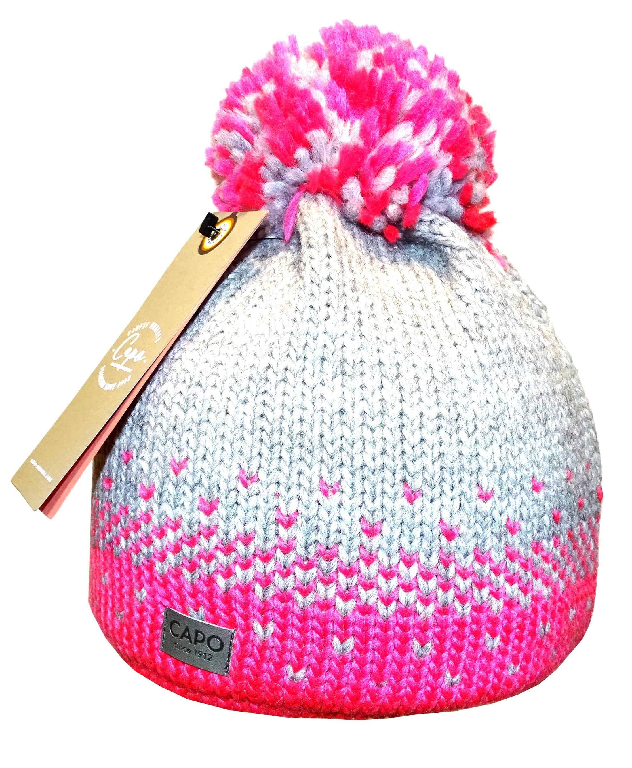 37ede0c7574 Gorro de Lana Capo Winter Grey   Pink - Armería Trelles S.L.