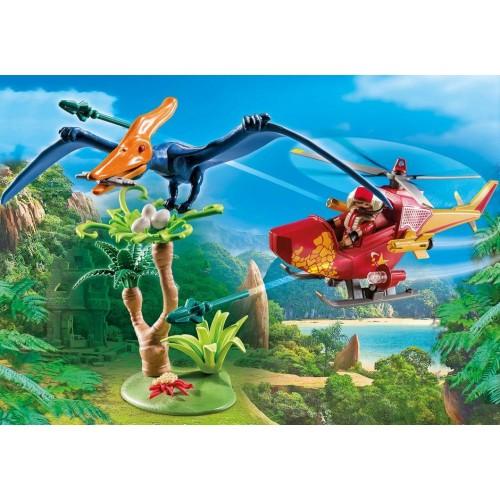 Playmobil Helicóptero con Pterosaurio 9430