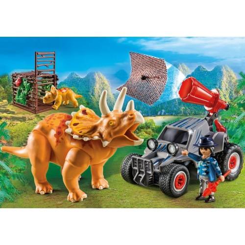 Playmobil Coche con Triceratops 9434
