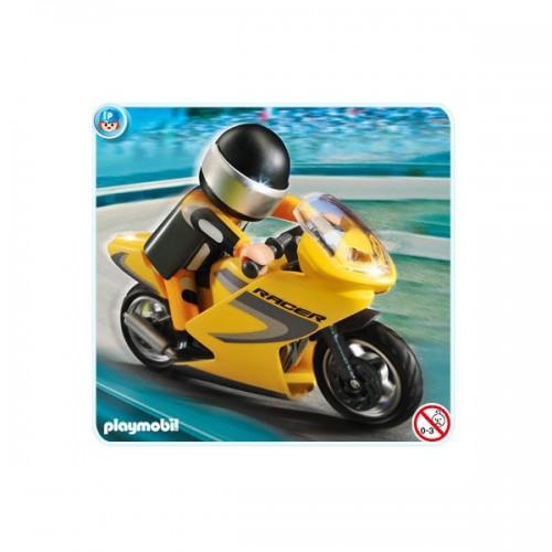 Playmobil Moto de Carreras con Piloto 5116