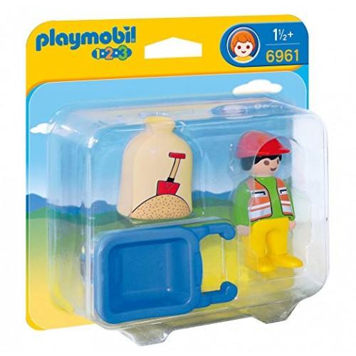 Playmobil Trabajador con Carretilla