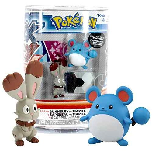 Pokemon Series Bunnelby contra Marill