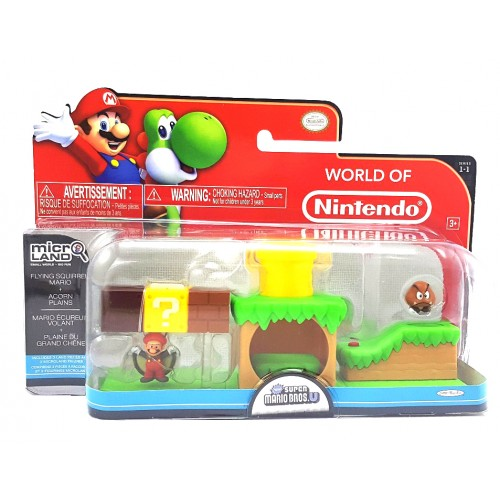 microLAND Flying Squirrel Mario & Acorn Plains Playset