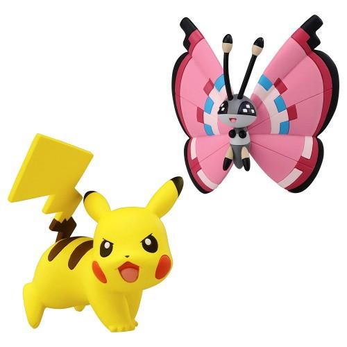 Pokémon Series Pikachu contra Vivillon