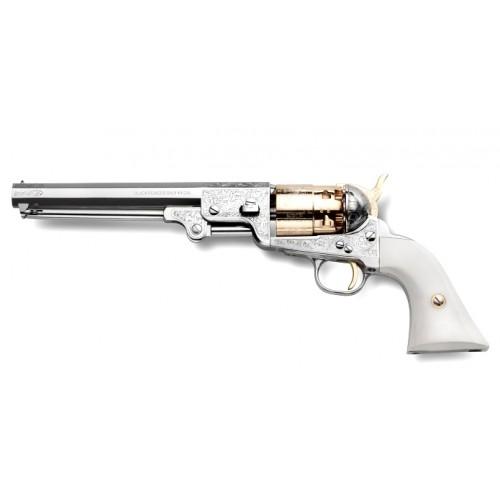 Revólver Colt  1851 REB NORD NAVY DE LUXE NICKEL Gold Lux