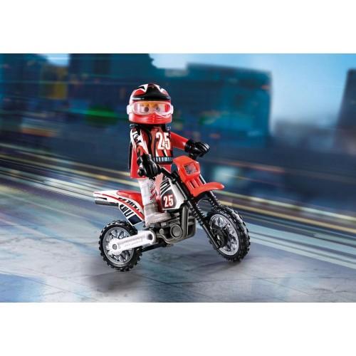 9357 Moto de Cross con Piloto