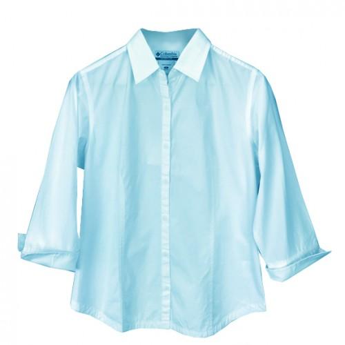 Columbia Camisa Manga 3/4 Halifax Celeste