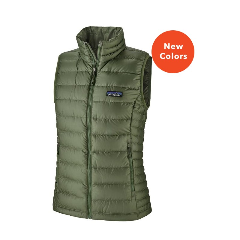 Patagonia Chaleco de Plumas 100% Natura / Ecológico Women´s Down Sweater Camp Green