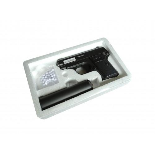 Pistola Compact con silenciador