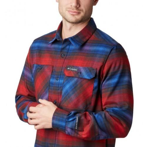 Camisa de franela elástica Outdoor Elements para hombre
