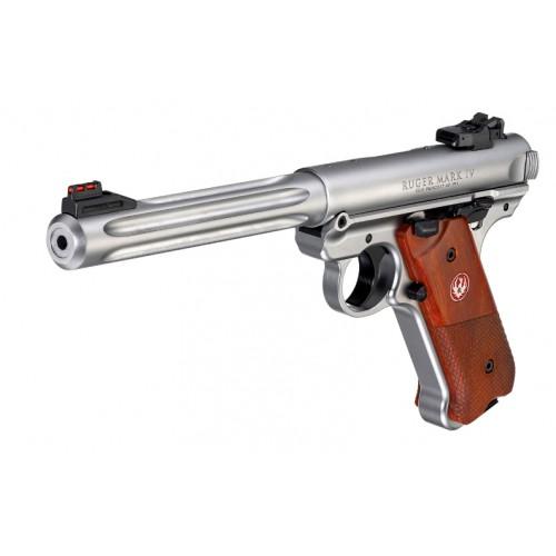 Pîstola Ruger MK IV Hunter Stainless Steel 22lr