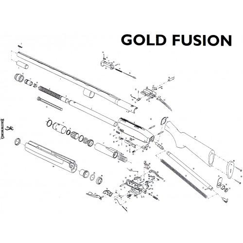 Browning Gold Fusion Pieza nº7B Inserto / Abrazadera latón
