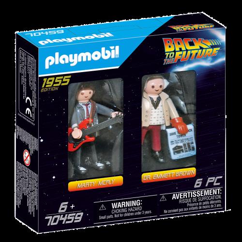 Regreso al futuro Marty McFly y Dr. Emm