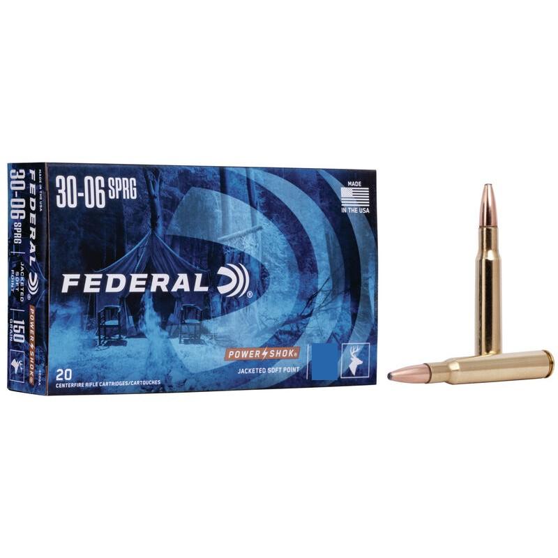 Federal munición 30-06 Power Shok 180gr