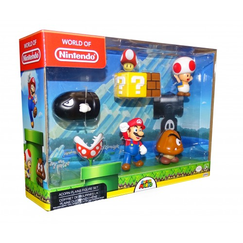 Nintendo World of Mario Acorn Plains Figure Set