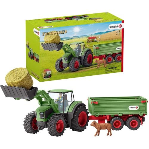 Schleich Tractor con Remolque