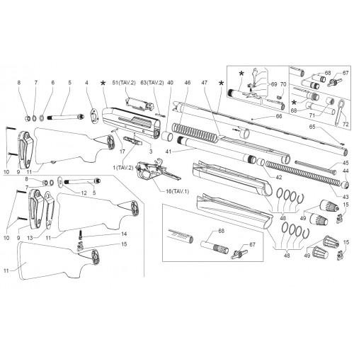 Franchi Muelle de recuperción Inertia / Predator / Raptor / Fast