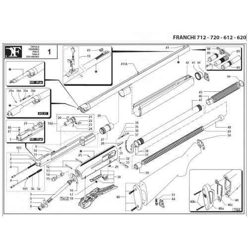 Franchi Amortiguador de soporte 712 - 720 - 612 - 620
