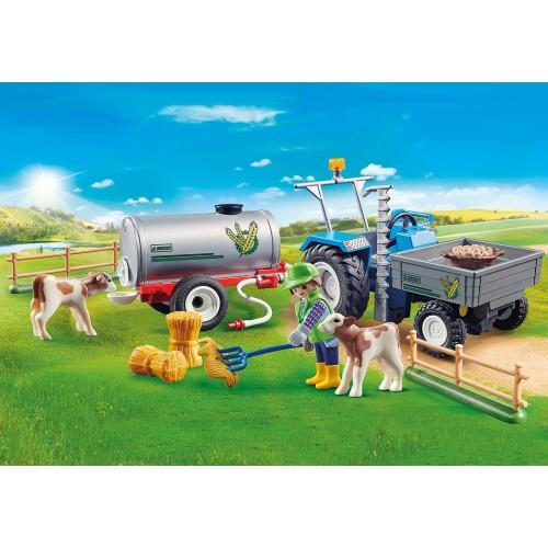 Tractor de carga con tanque