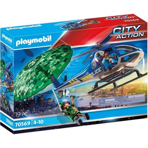 Helicóptero de Policía: Persecución en Paracaídas