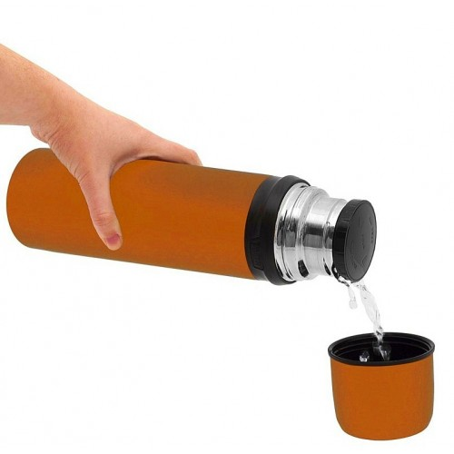 Laken Termo Inox. 0.75L Naranja