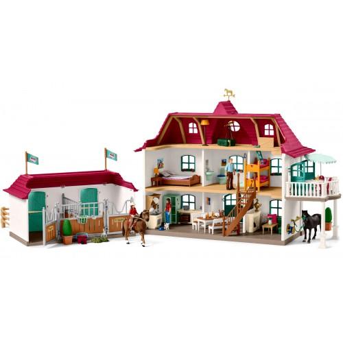 Schleich Granja con vivienda y establo