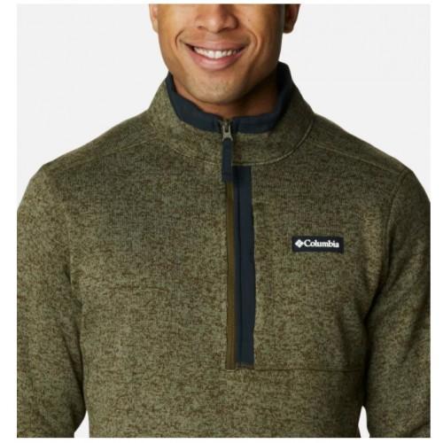 Columbia Jersey Sweater Weather Half Zip Green