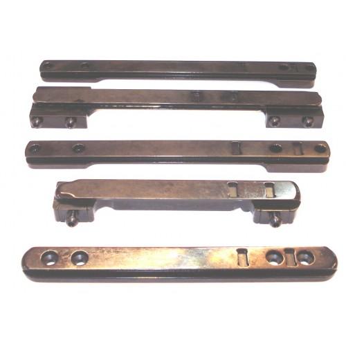 Raíles para distintos modelos de rifles