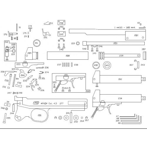 Repuestos para pistolas neumáticas FAS