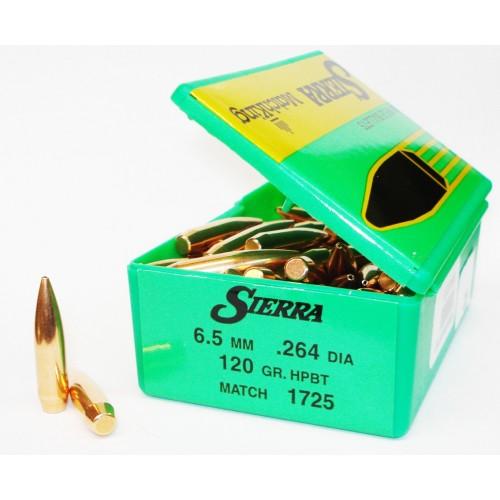 1725   6.5mm Match  .264  120 gr. HPBT