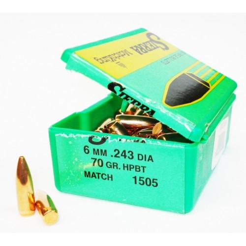 1505   6mm  .243 70 gr. HPBT  Match