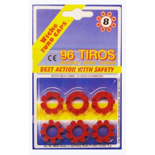 Fulminantes para armas de juguete con tambor de 8 disparos