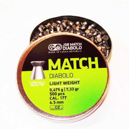 JSB Match Diabolo Light Weight 4.5mm  500 unidades