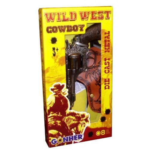 201 Wild West Revólver con funda