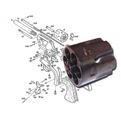 Pietta Tambor de repuesto 44-40 / 45 Long Colt
