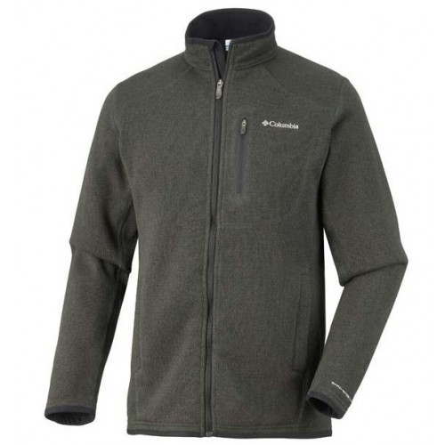 EM2486  Altitude Aspect Full Zip Dark Moss Heather Man