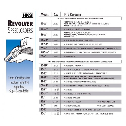 HKS Speedloader cargador para revólver