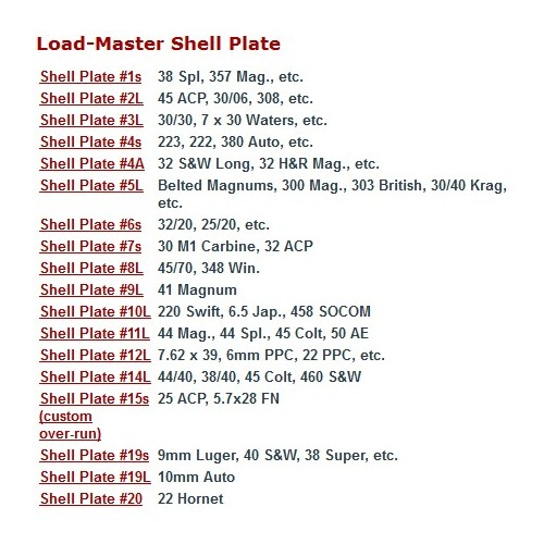 Lee Load Master Shell Plate