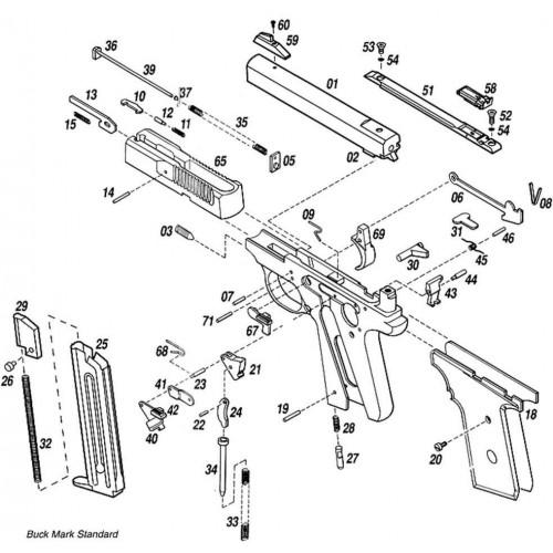 Aguja percutora para pistola Browning Buck Mark .22 Lr