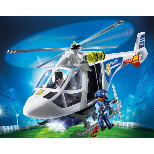 6921 Helicóptero de policía con luces LED