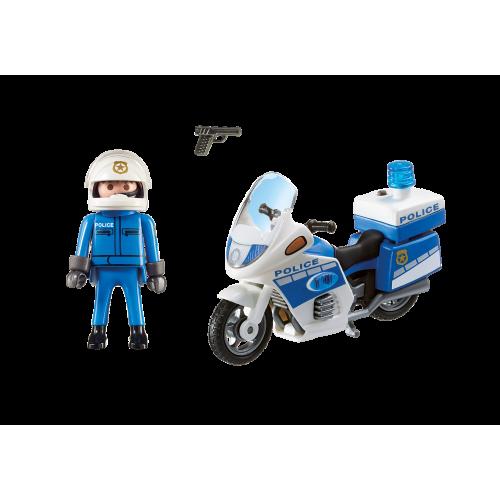 6923 Moto de policía con LED